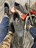 Кроссовки мужские Nike Air Force Luxury Suede Grey Кроссовки найк Найк мужские кроссовки, фото 5