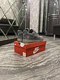 Кроссовки мужские Nike Air Force Luxury Suede Grey Кроссовки найк Найк мужские кроссовки, фото 6