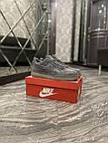Кроссовки мужские Nike Air Force Luxury Suede Grey Кроссовки найк Найк мужские кроссовки, фото 7