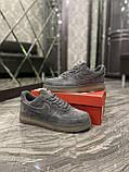 Кроссовки мужские Nike Air Force Luxury Suede Grey Кроссовки найк Найк мужские кроссовки, фото 8