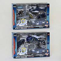 Набор полицейской техники 8830 BA (12) 2 вида, световые и звуковые эффекты, в коробке