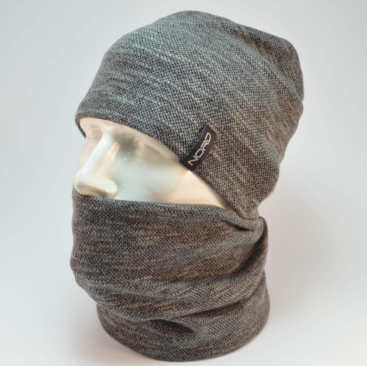 Комплект Nord Джерси шапка и бафф темно серый
