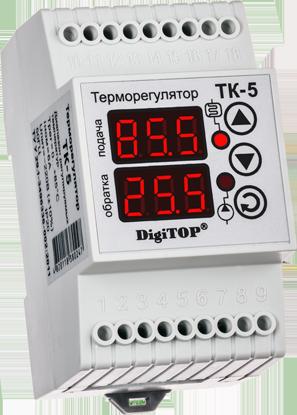 Регулятор температуры ТК-5в (трехканальный, датчик DS18B20) DIN