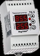 Регулятор температуры ТК-5 (двухканальный, датчик DS18B20) DIN