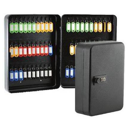 Шкафчик для ключей Buromax 0412 черный 57 матовый с брелками, фото 2