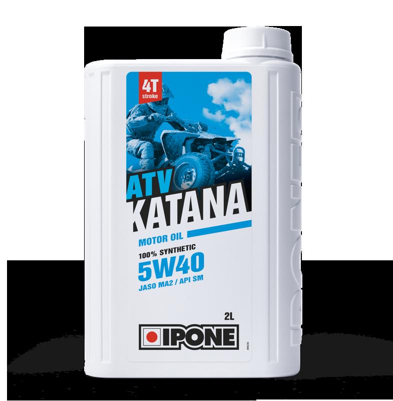 Моторное масло IPONE ATV KATANA 5W40 (2л) для внедорожников и квадроциклов. API SM, JASO MA-2