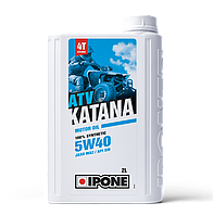 Моторное масло IPONE ATV KATANA 5W40 (2л) для внедорожников и квадроциклов. API SM, JASO MA-2, фото 1