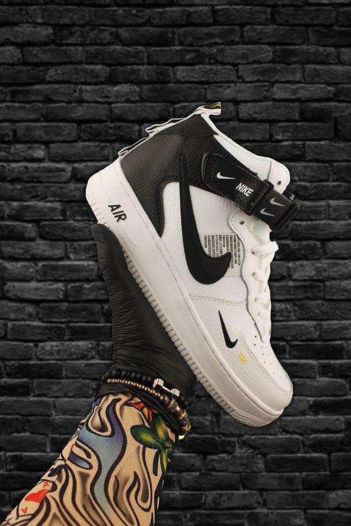 Кроссовки мужские Nike Air Force 1 High White Black Кроссовки найк Найк мужские кроссовки