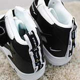 Кроссовки мужские Nike Air Force 1 High White Black Кроссовки найк Найк мужские кроссовки, фото 3