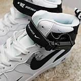 Кроссовки мужские Nike Air Force 1 High White Black Кроссовки найк Найк мужские кроссовки, фото 4