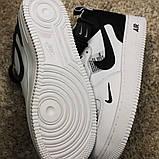 Кроссовки мужские Nike Air Force 1 High White Black Кроссовки найк Найк мужские кроссовки, фото 5
