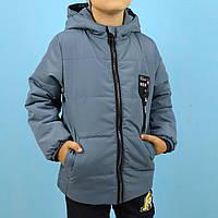 Дитяча куртка для хлопчика на флісі синя тм Одягайко розмір 116,122 см, фото 1