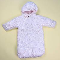 Детский конверт для девочки травка тм Одягайко размер 62,68