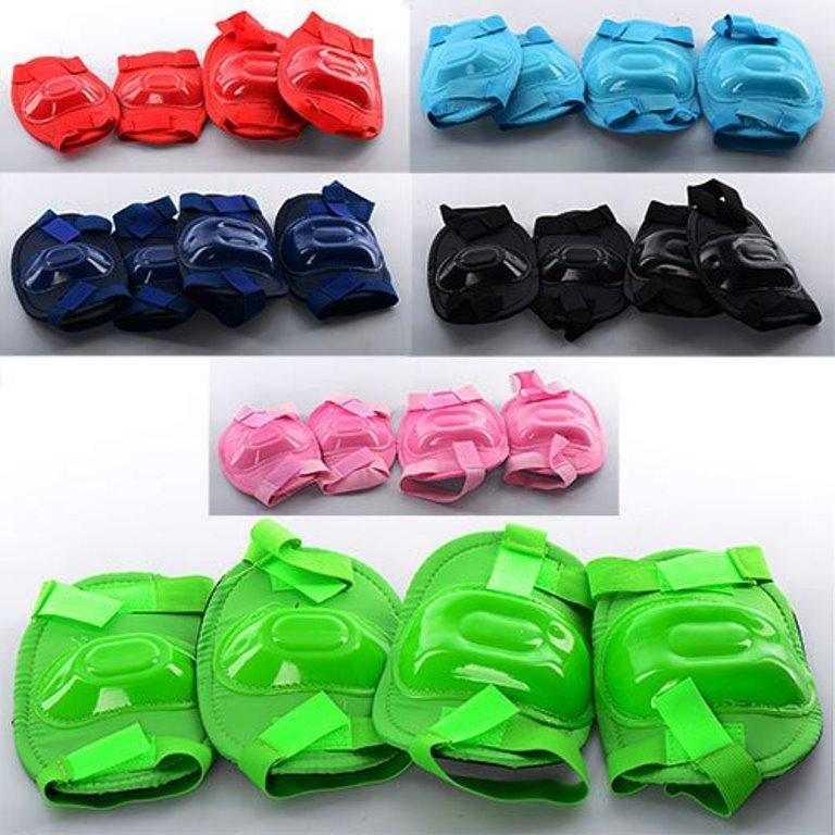 Захист MS 0683 для колін і ліктів, 6 кольорів, в кульку, 19-21-3,5 см