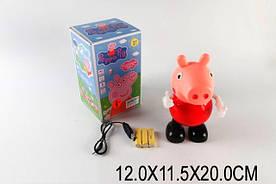 Муз. свинка Пеппа 58639A батар., муз, МП3, світло, в коробці 12*11,5*20 см