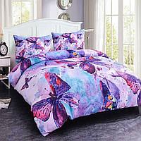 Постельный комплект Бабочки фиолет(бязь)