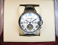 Часы CARTIER Ballon Bleu de Tourbillon 45mm Silver/White. Replica: AAA.