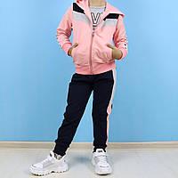 Спортивный костюм тройка для девочки Love персиковый тм Seagull размер 12 лет