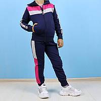 Спортивный костюм тройка для девочки Love розовый тм Seagull размер 4,6,8 лет