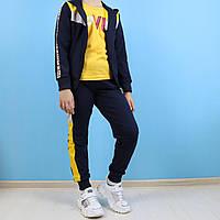 Спортивный костюм тройка для девочки Love желтый тм Seagull размер 8,10,12 лет