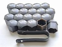 Декоративные Графитовые колпачки для болтов на диски для болтов ключ 19