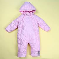 Детский зимний розовый комбинезон для девочки тм Одягайко размер 80