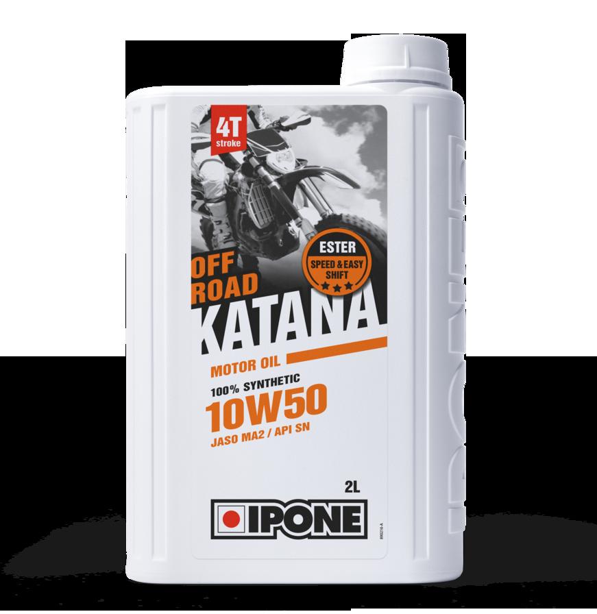 Моторное масло IPONE Katana Off Road 10W50 (2л) для внедорожных мотоциклов. JASO MA-2, API SN