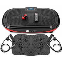 Виброплатформа Hop-Sport 4D HS-095VS Crown+ массажный коврик+ пульт управления/часы для дома и спорт