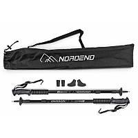 Трекинговые палки алюминиевые складные Hop-Sport Nordend черные для походов и туризма