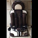 Автокресло бескаркасное GLANBER коричневое от 6 месяцев, фото 4