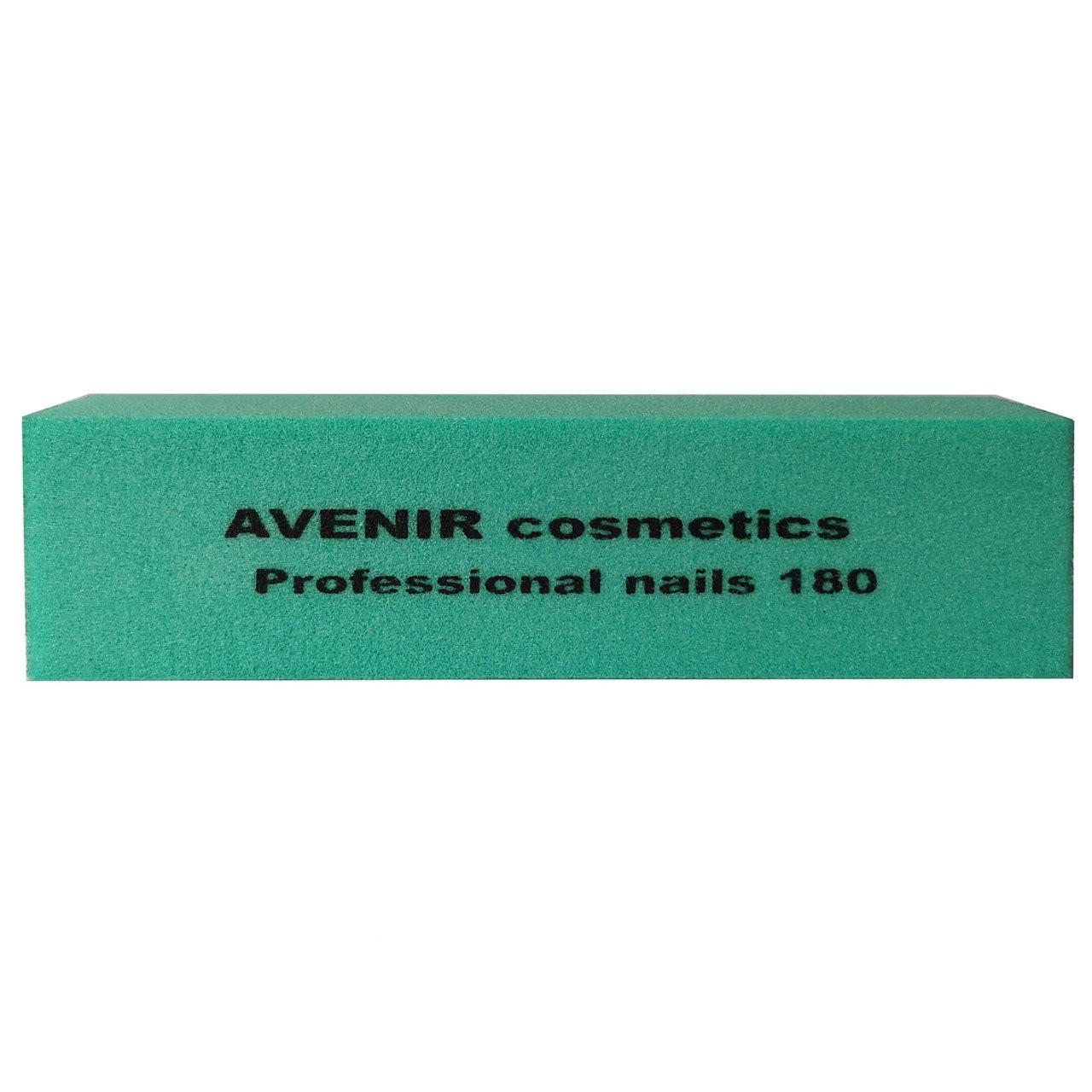 Баф проф для шлифовки ногтей (зеленый) 180/180 Avenir Cosmetics