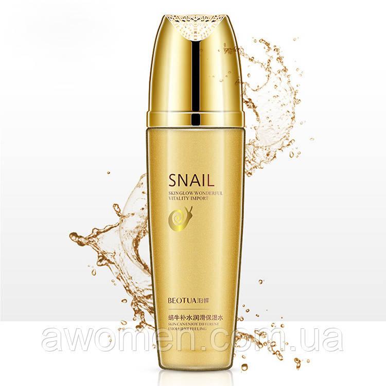 Уценка! Тонер для лица Beotua Snail с муцином улитки 120 ml (мятая коробка)