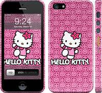 "Чехол на iPhone 5 Hello kitty. Pink lace ""680c-18"""