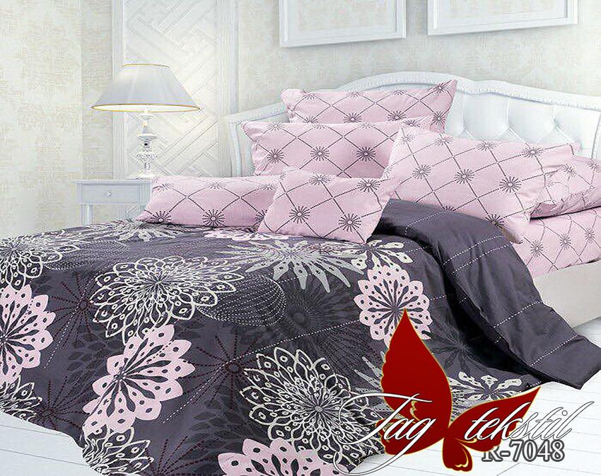 Полуторний комплект постільної білизни рожевого кольору з візерунками, Ранфорс