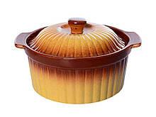 Каструля з кришкою для запікання кераміка Ethno Organic 236775 ТМSTENSON