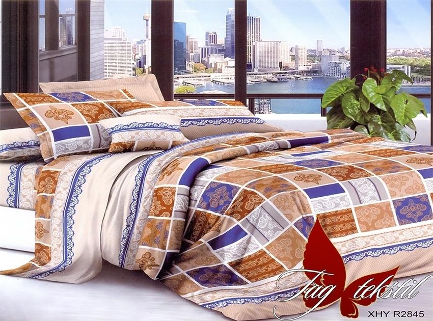 Полуторный комплект постельного белья в клеточку, Поликоттон