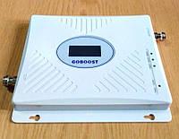 Трьохдіапазонний репітер підсилювач GB-1770-GDW 900 МГц + 1800 МГц + 2100 МГц із захистом мережі, 300-500 кв. м.