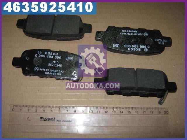 Колодки тормозные дисковые, комплект (производство  Bosch) ИНФИНИТИ,НИССАН,НИССAН