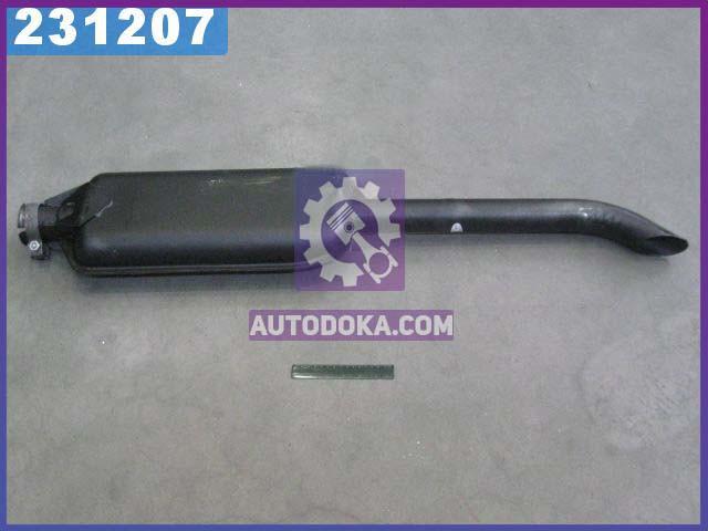 Глушитель МТЗ, ЮМЗ средний черный (L=1150 мм) (производство  ЮТАС, г. Мелитополь)  60-1205015-АС