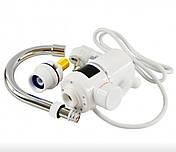 Вертикальний водонагрівач проточний на кран з LCD дисплеєм UKC RX-005 білий, фото 3