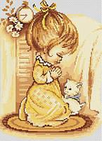 """Набор для вышивания крестом """"Luca-s"""" B270 Мольба девочки"""