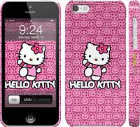 "Чехол на iPhone 5c Hello kitty. Pink lace ""680c-23"""