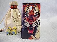 Пластиковый бампер чехол с рисунком для Lenovo S860 Тигр