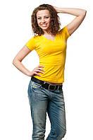 Футболка женская 8508 - желтый: S M L XL 2XL