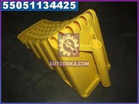 Упор противооткатный пластиковий 470х200х230мм жовтий (виробництво Петропласт) PPL 70500129
