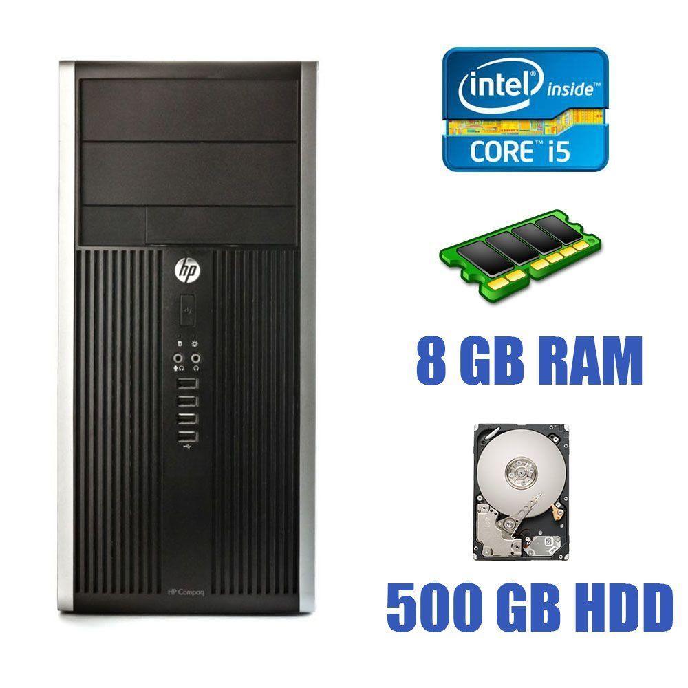 HP Compaq 6200 Pro Tower / Intel Core i5-2500 (4 ядра по 3.3 - 3.7 GHz) / 8 GB DDR3 / 500 GB HDD
