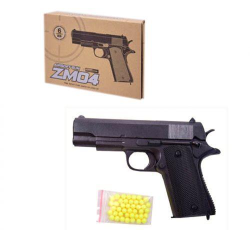Пистолет игрушечный металлический ZM04