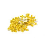 Тычинки Сахарные Желтые на нитке 40 шт/уп