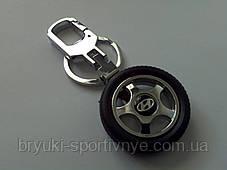 Брелок в форме колеса с логотипом Hyundai, фото 2