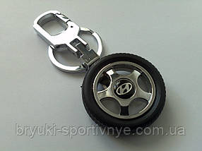 Брелок в форме колеса с логотипом Hyundai